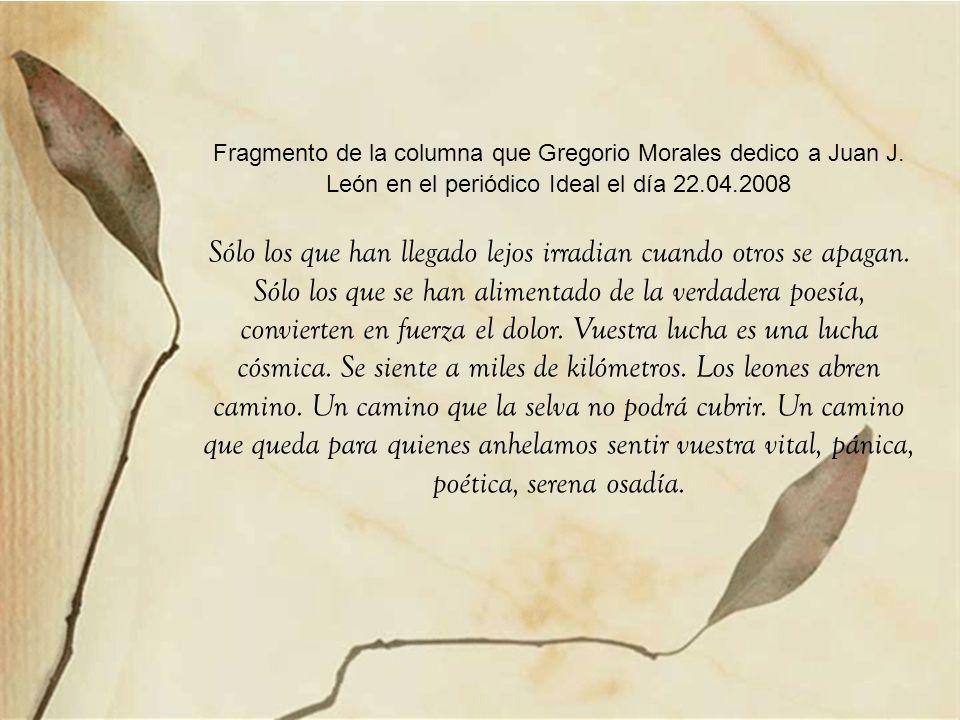 Fragmento de la columna que Gregorio Morales dedico a Juan J
