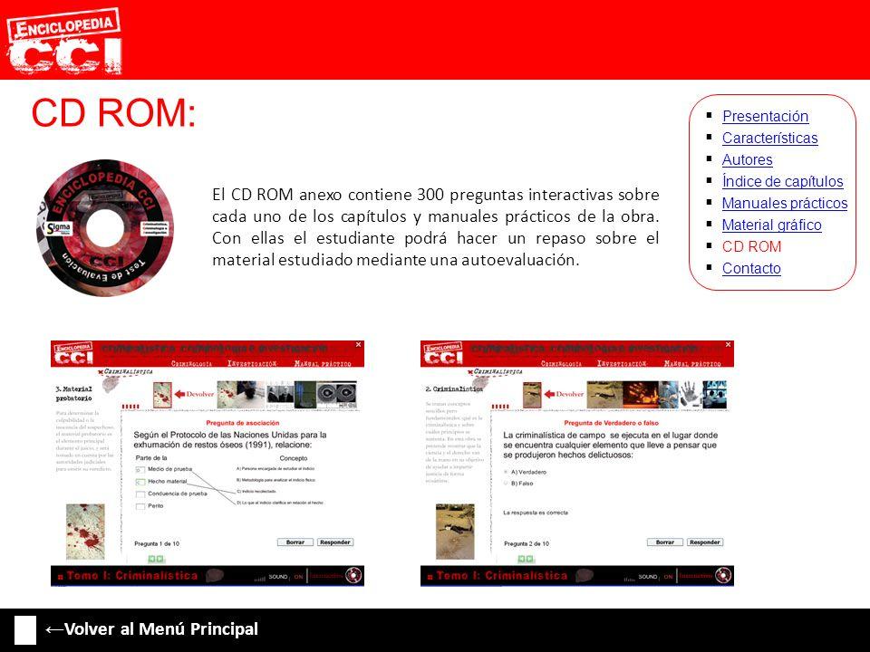 CD ROM: ←Volver al Menú Principal