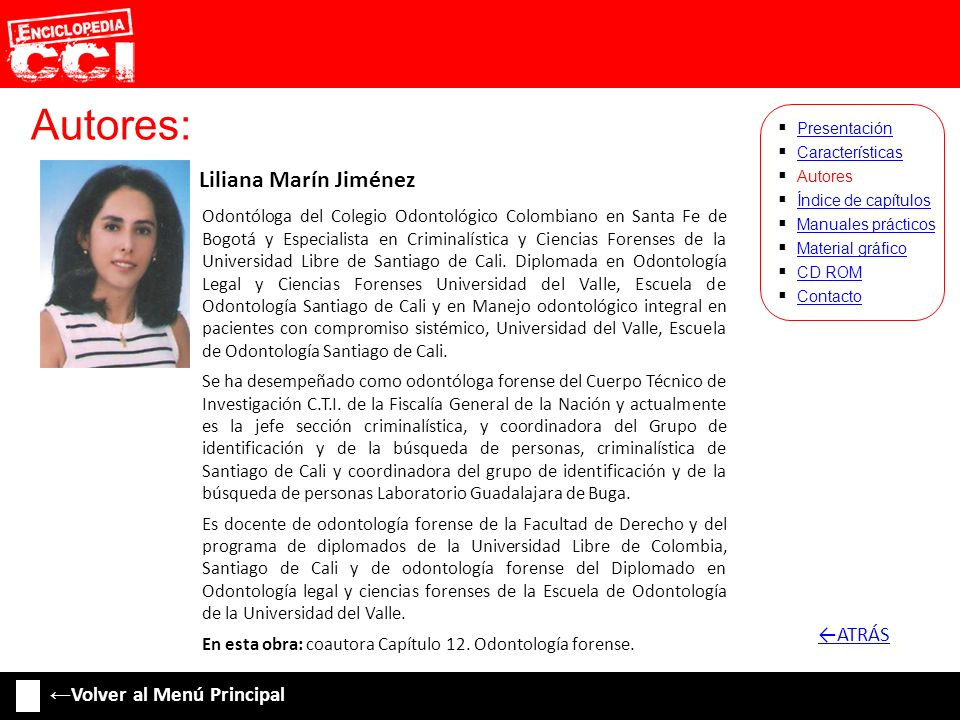 Autores: Liliana Marín Jiménez ←ATRÁS ←Volver al Menú Principal