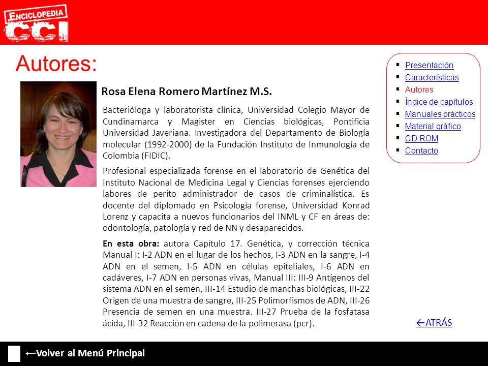 Autores: Rosa Elena Romero Martínez M.S. ←ATRÁS