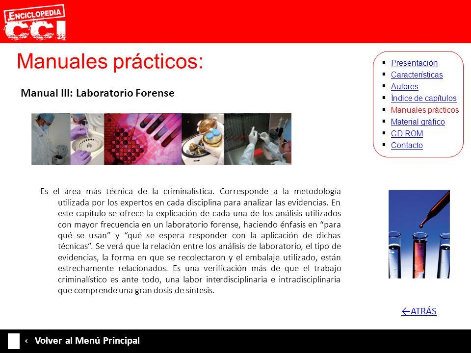 Manuales prácticos: Manual III: Laboratorio Forense ←ATRÁS