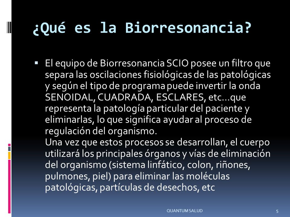¿Qué es la Biorresonancia