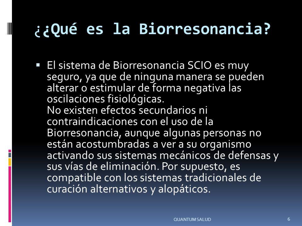 ¿¿Qué es la Biorresonancia