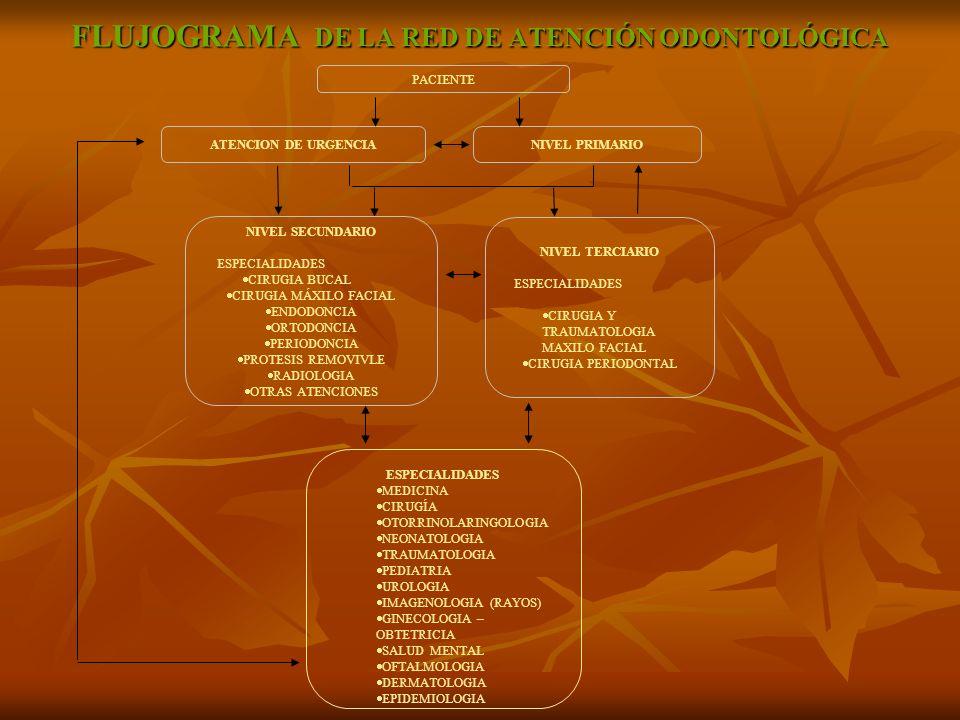 FLUJOGRAMA DE LA RED DE ATENCIÓN ODONTOLÓGICA