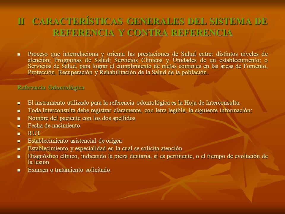 II CARACTERÍSTICAS GENERALES DEL SISTEMA DE REFERENCIA Y CONTRA REFERENCIA