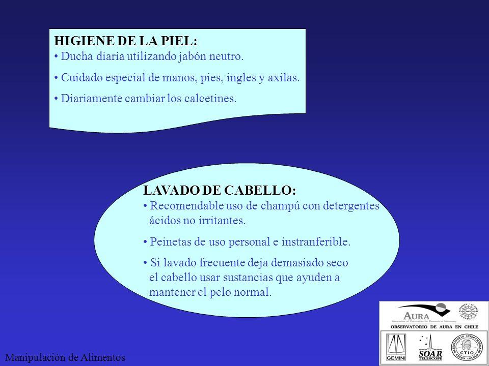 HIGIENE DE LA PIEL: LAVADO DE CABELLO: