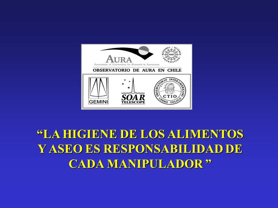 LA HIGIENE DE LOS ALIMENTOS Y ASEO ES RESPONSABILIDAD DE CADA MANIPULADOR