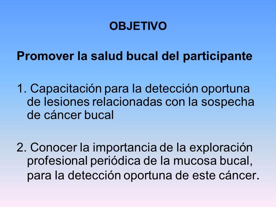 Promover la salud bucal del participante