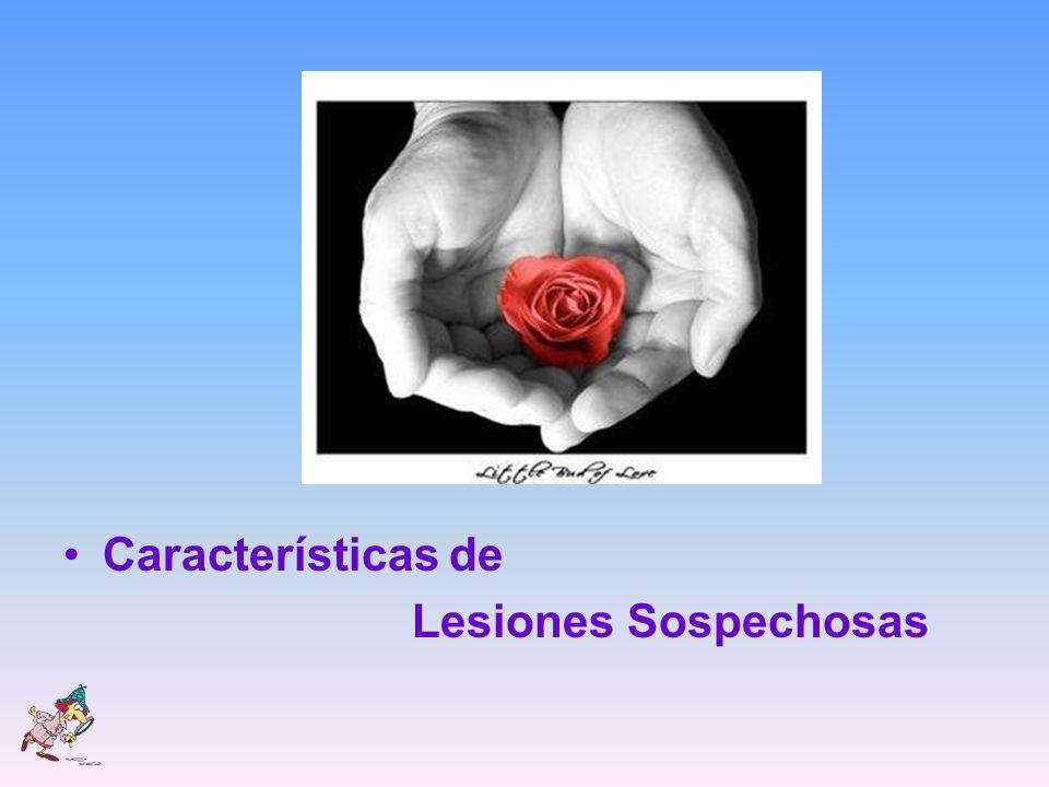 Características de Lesiones Sospechosas
