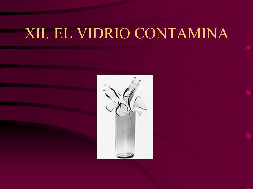 XII. EL VIDRIO CONTAMINA