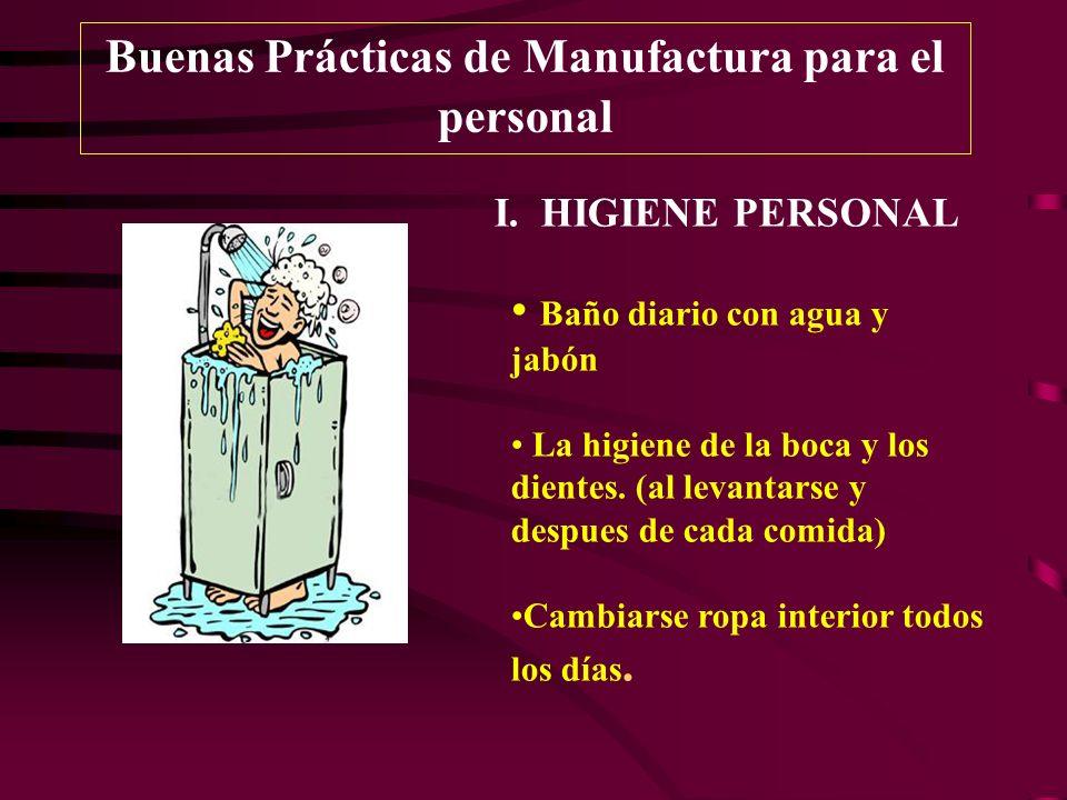 Buenas Prácticas de Manufactura para el personal