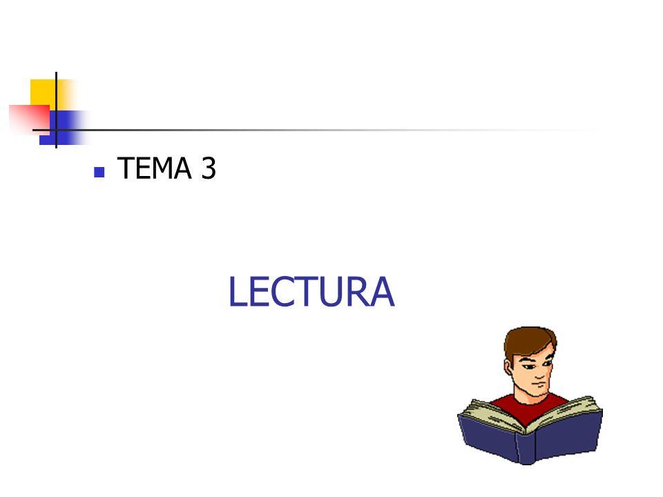 TEMA 3 LECTURA
