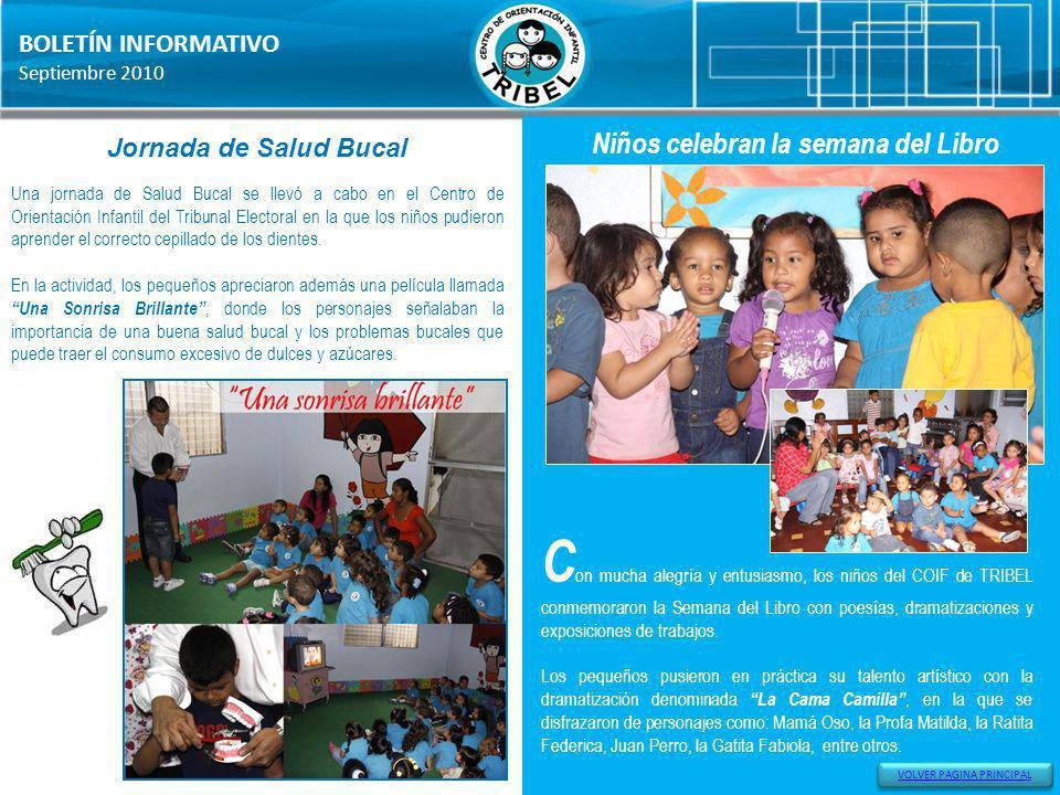 Niños celebran la semana del Libro