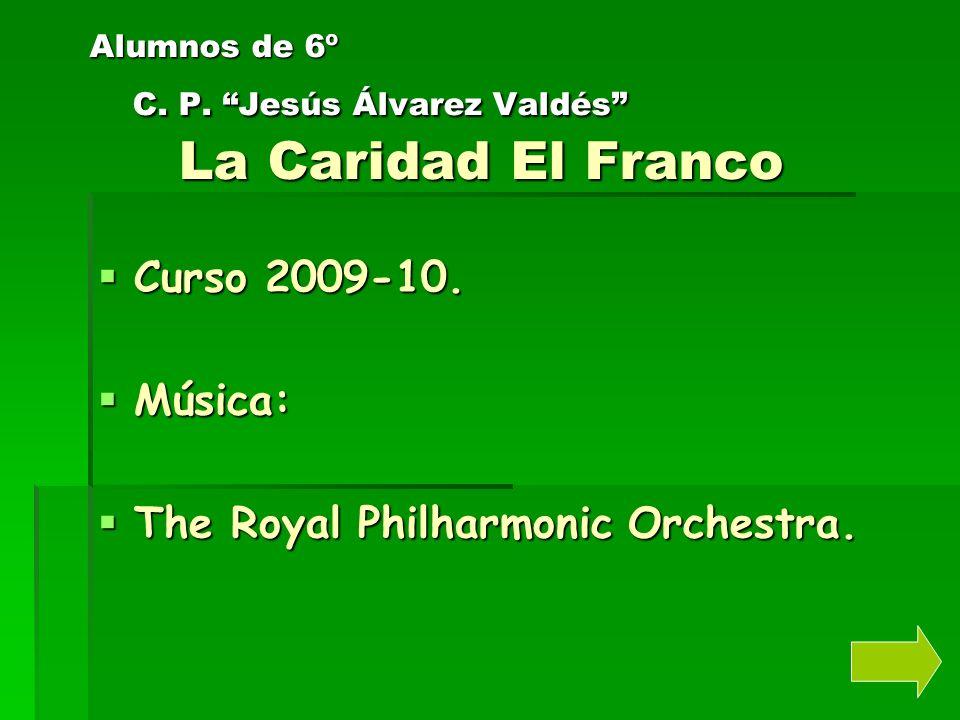 Alumnos de 6º C. P. Jesús Álvarez Valdés La Caridad El Franco