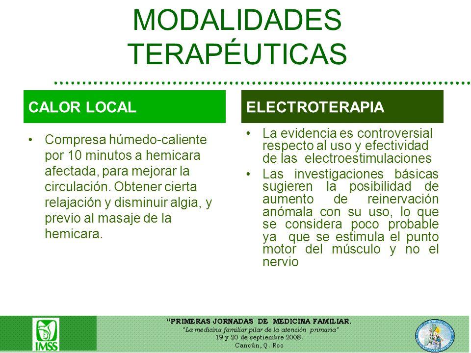 MODALIDADES TERAPÉUTICAS