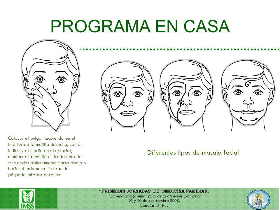 PROGRAMA EN CASA Diferentes tipos de masaje facial