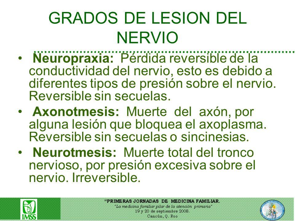 GRADOS DE LESION DEL NERVIO