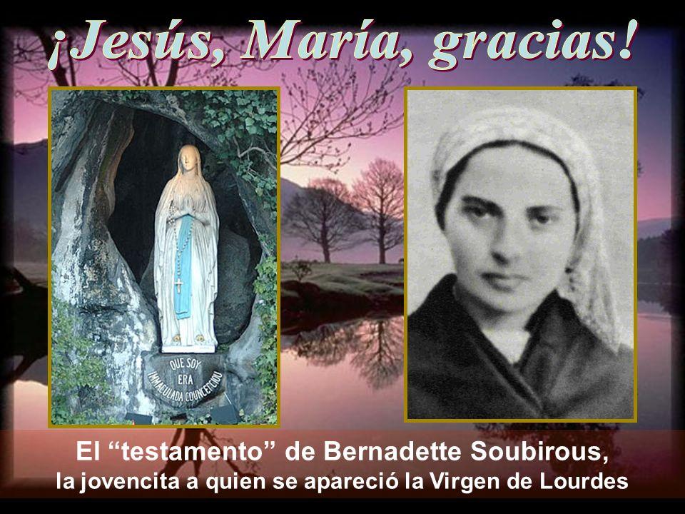 ¡Jesús, María, gracias.