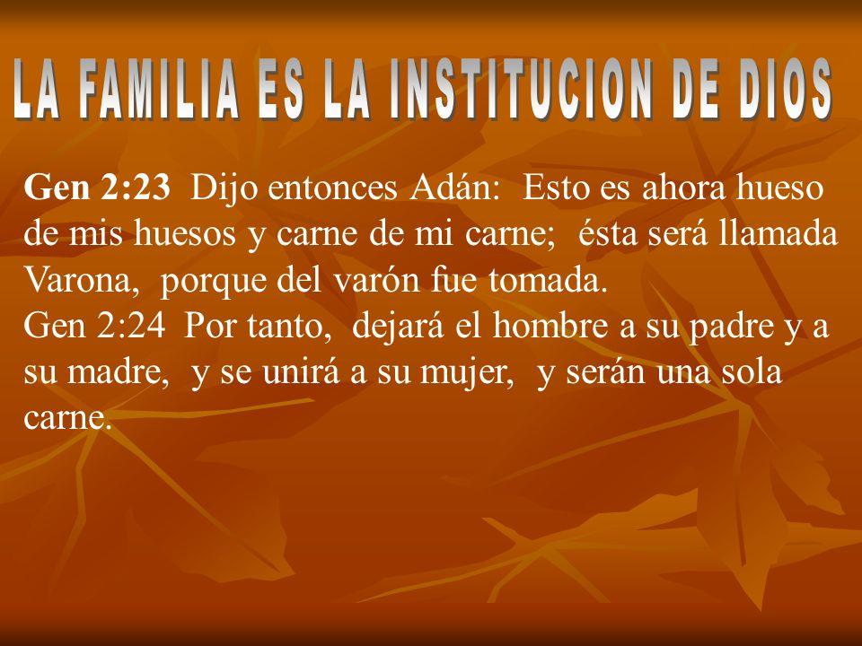LA FAMILIA ES LA INSTITUCION DE DIOS