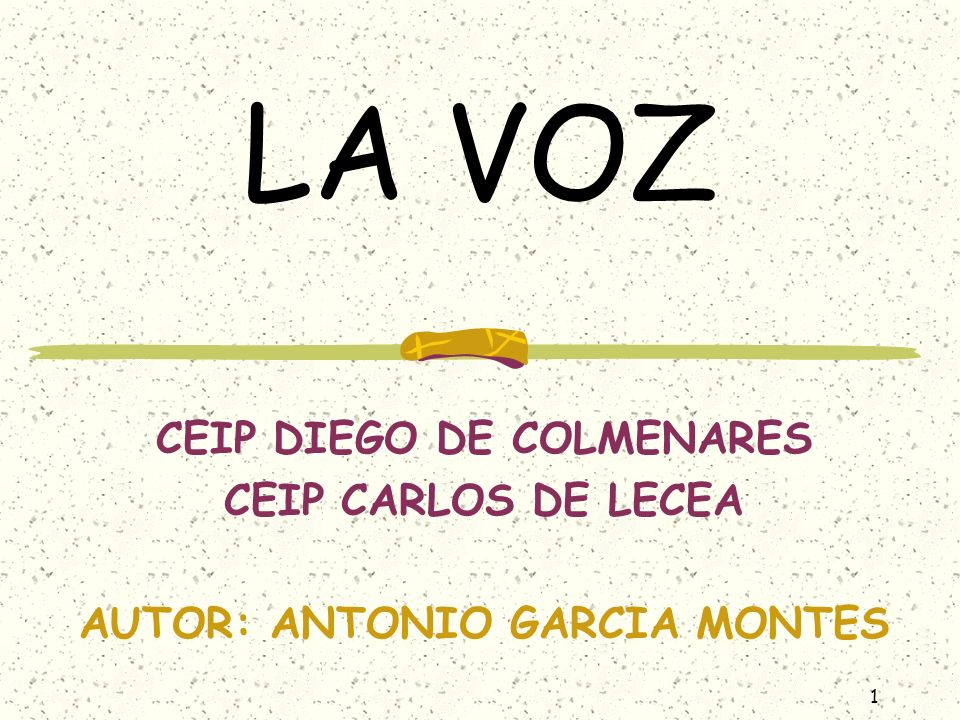 CEIP DIEGO DE COLMENARES AUTOR: ANTONIO GARCIA MONTES