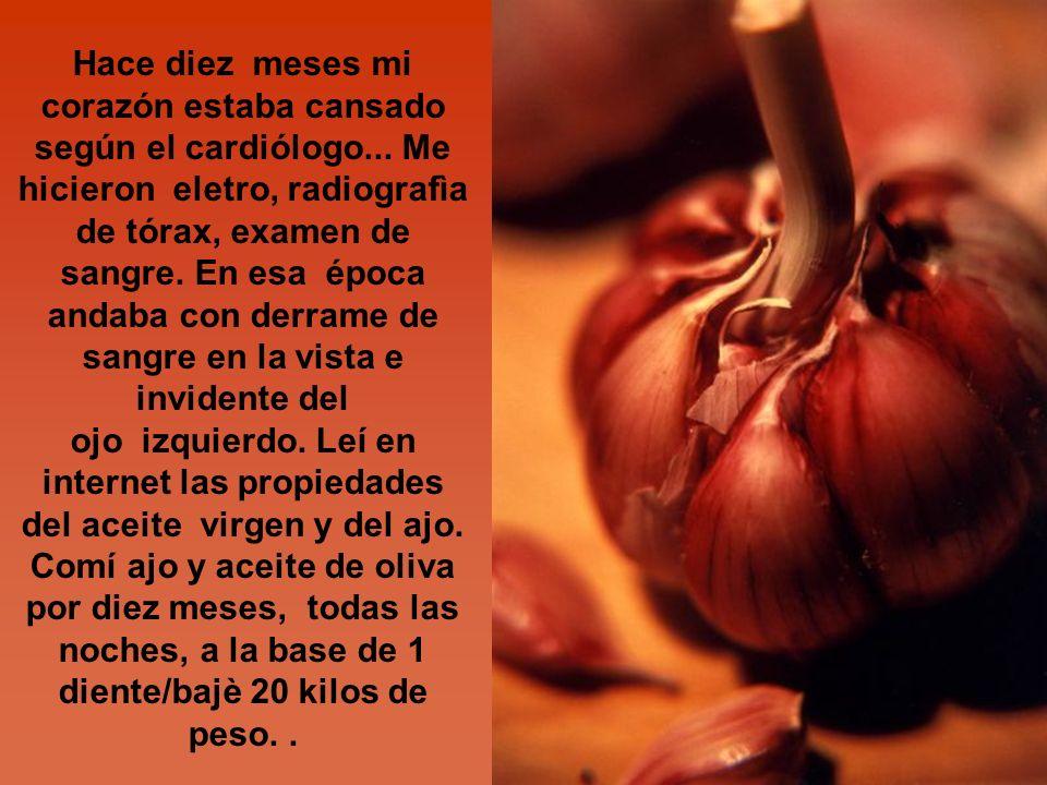 Hace diez meses mi corazón estaba cansado según el cardiólogo