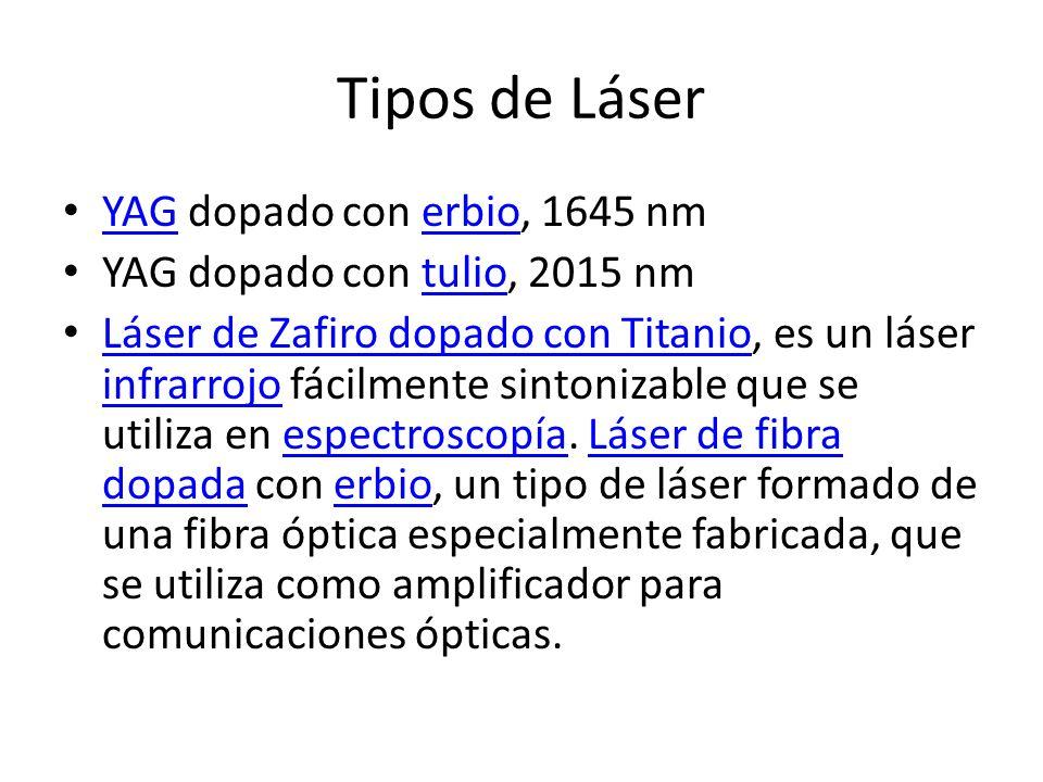Tipos de Láser YAG dopado con erbio, 1645 nm