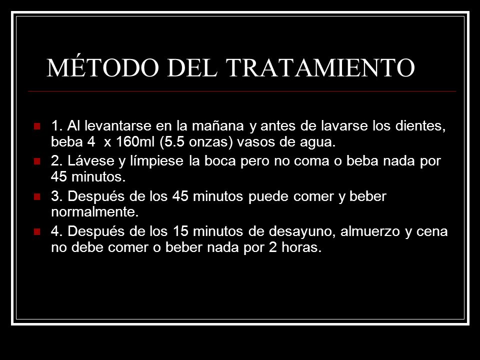 MÉTODO DEL TRATAMIENTO