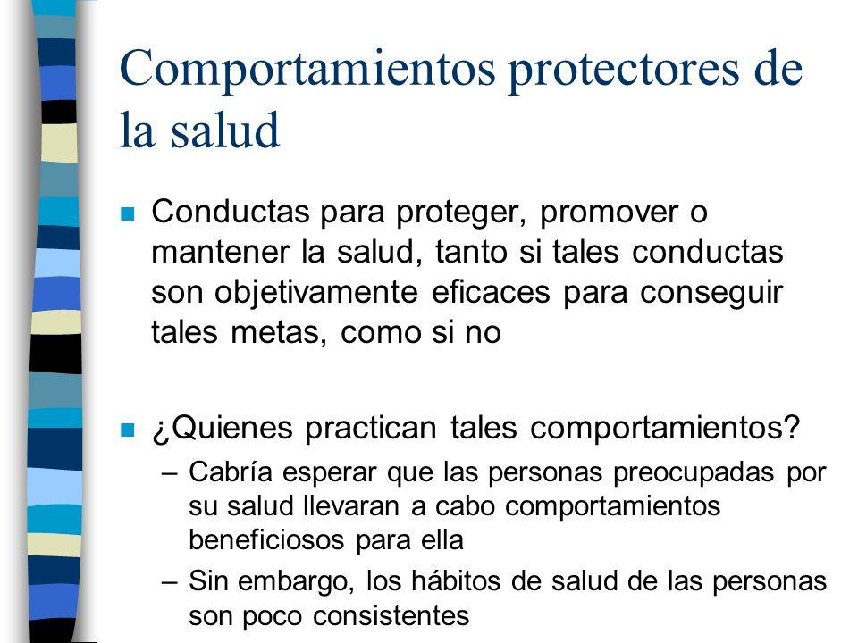 Comportamientos protectores de la salud