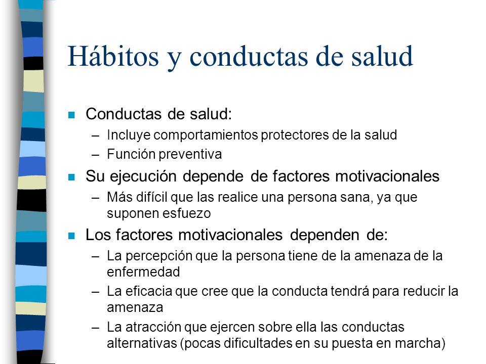 Hábitos y conductas de salud
