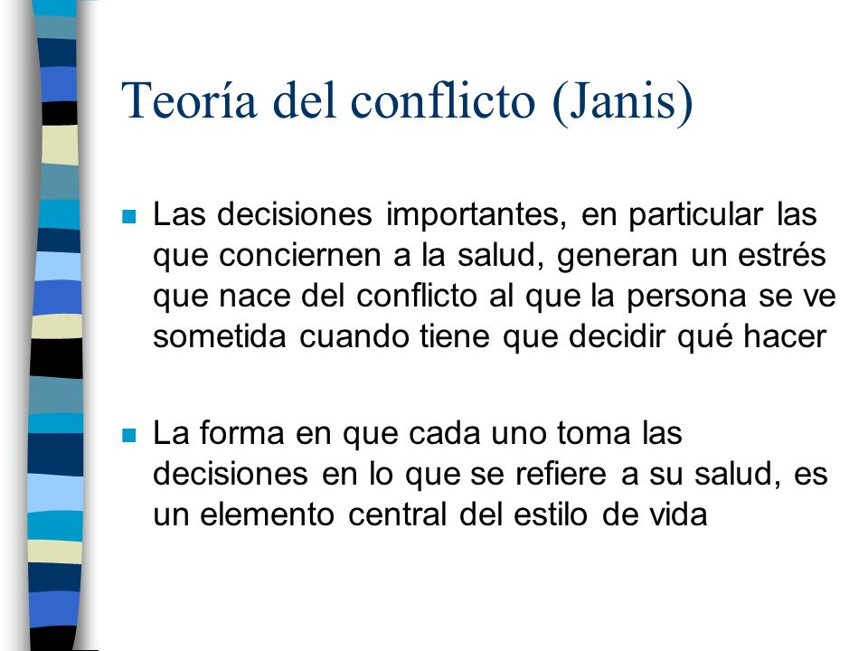 Teoría del conflicto (Janis)