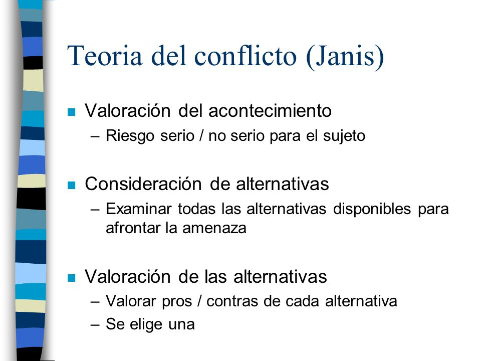 Teoria del conflicto (Janis)