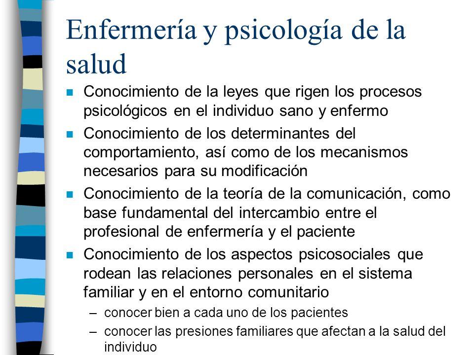 Enfermería y psicología de la salud