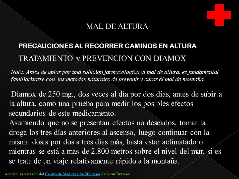 TRATAMIENTO y PREVENCION CON DIAMOX