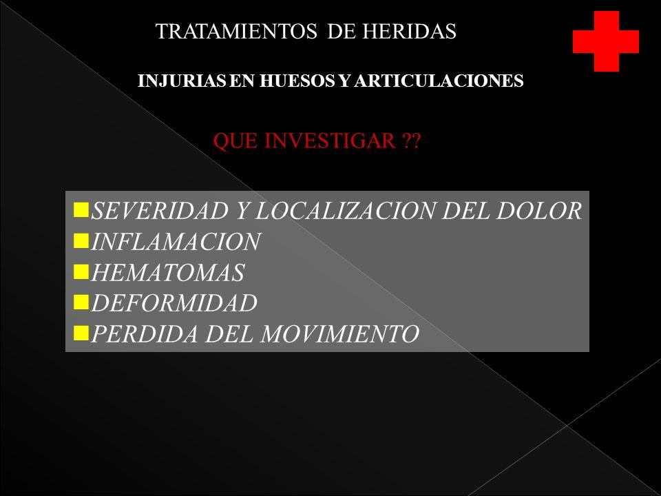 INJURIAS EN HUESOS Y ARTICULACIONES