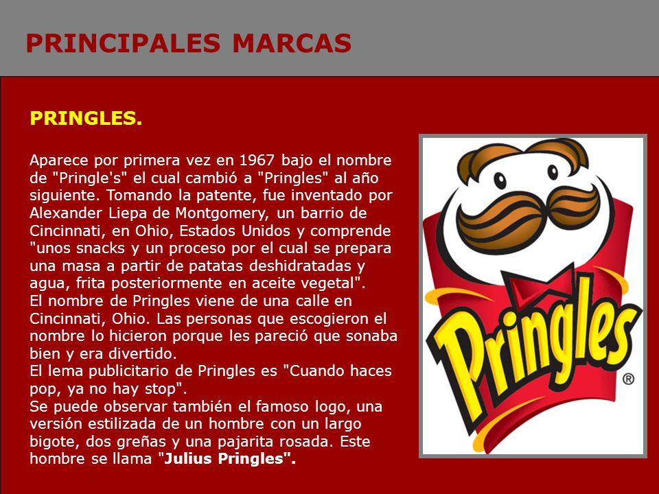 PRINCIPALES MARCAS PRINGLES.