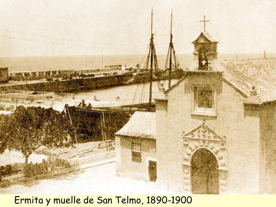 Ermita y muelle de San Telmo, 1890-1900