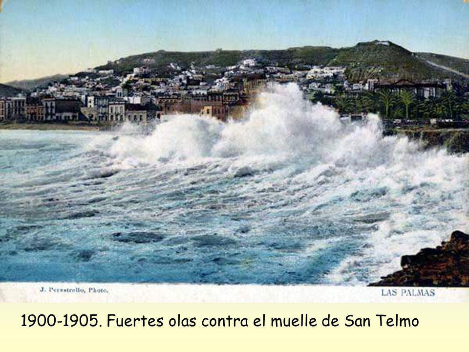 1900-1905. Fuertes olas contra el muelle de San Telmo