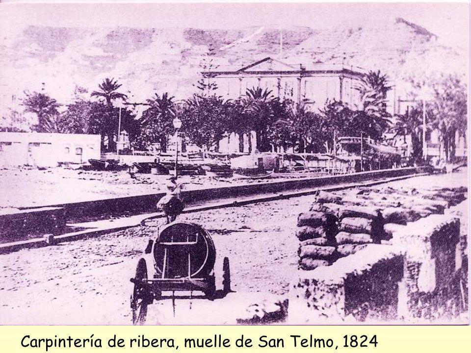 Carpintería de ribera, muelle de San Telmo, 1824