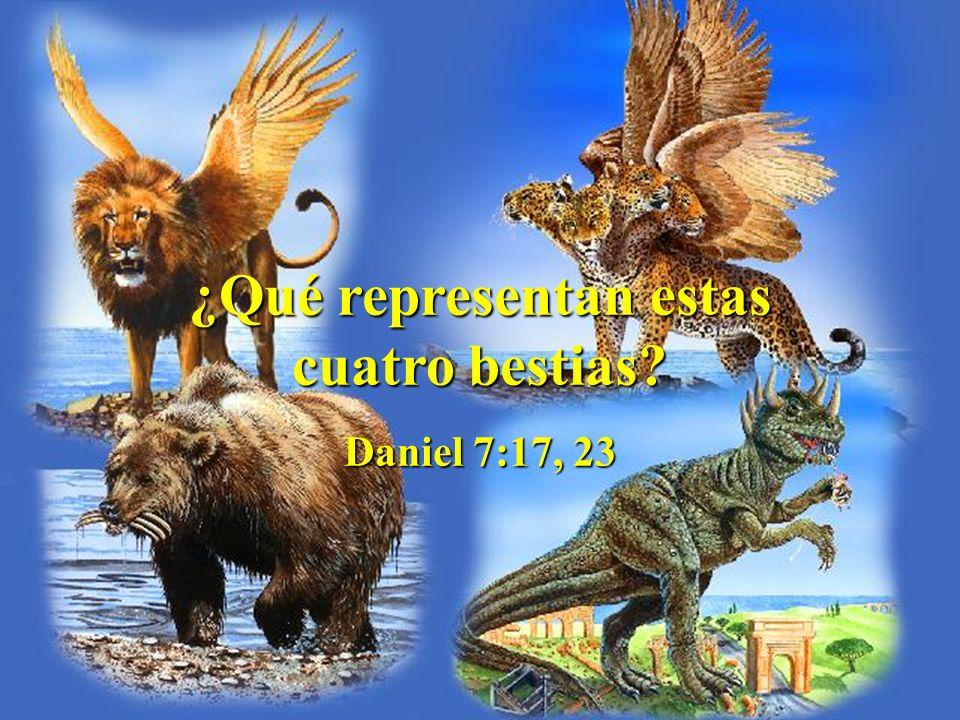 ¿Qué representan estas cuatro bestias