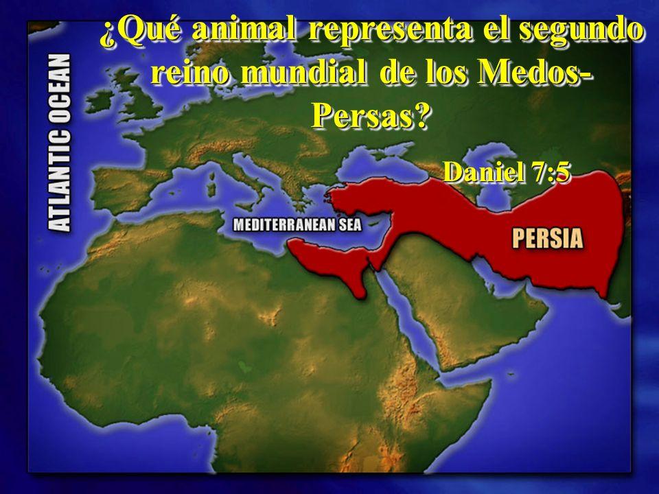 ¿Qué animal representa el segundo reino mundial de los Medos-Persas