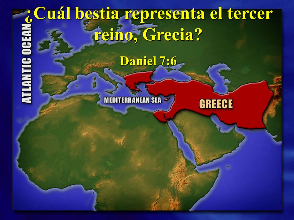 ¿Cuál bestia representa el tercer reino, Grecia