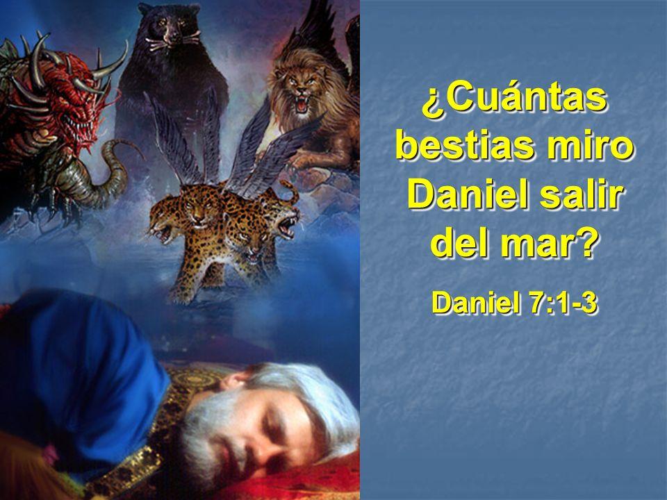 ¿Cuántas bestias miro Daniel salir del mar