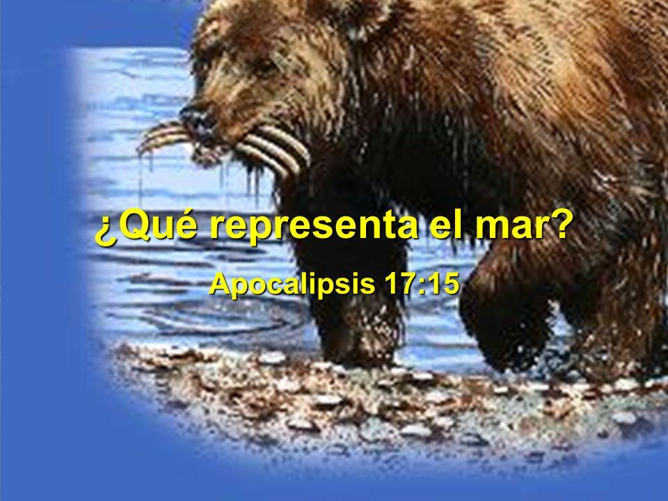 ¿Qué representa el mar Apocalipsis 17:15