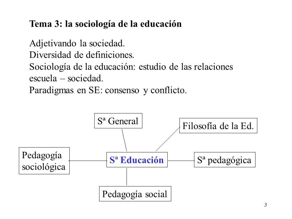 Tema 3: la sociología de la educación