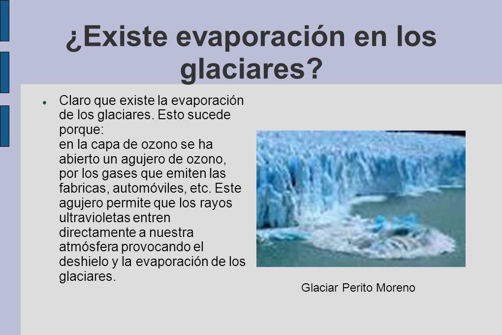 ¿Existe evaporación en los glaciares