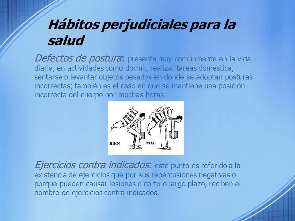 Hábitos perjudiciales para la salud