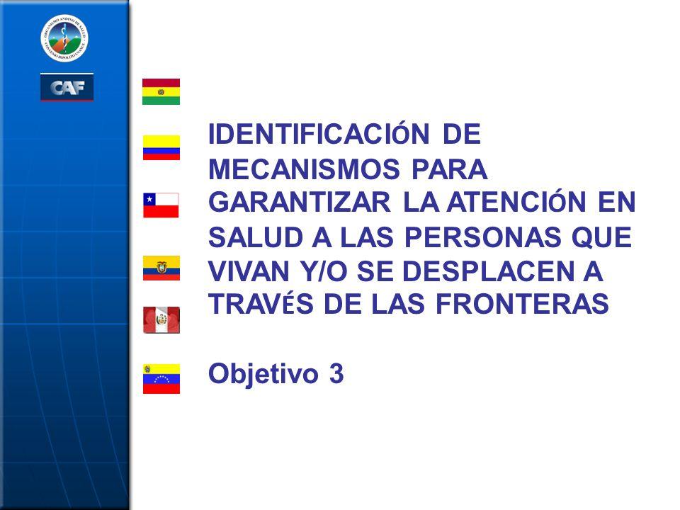 IDENTIFICACIÓN DE MECANISMOS PARA GARANTIZAR LA ATENCIÓN EN SALUD A LAS PERSONAS QUE VIVAN Y/O SE DESPLACEN A TRAVÉS DE LAS FRONTERAS