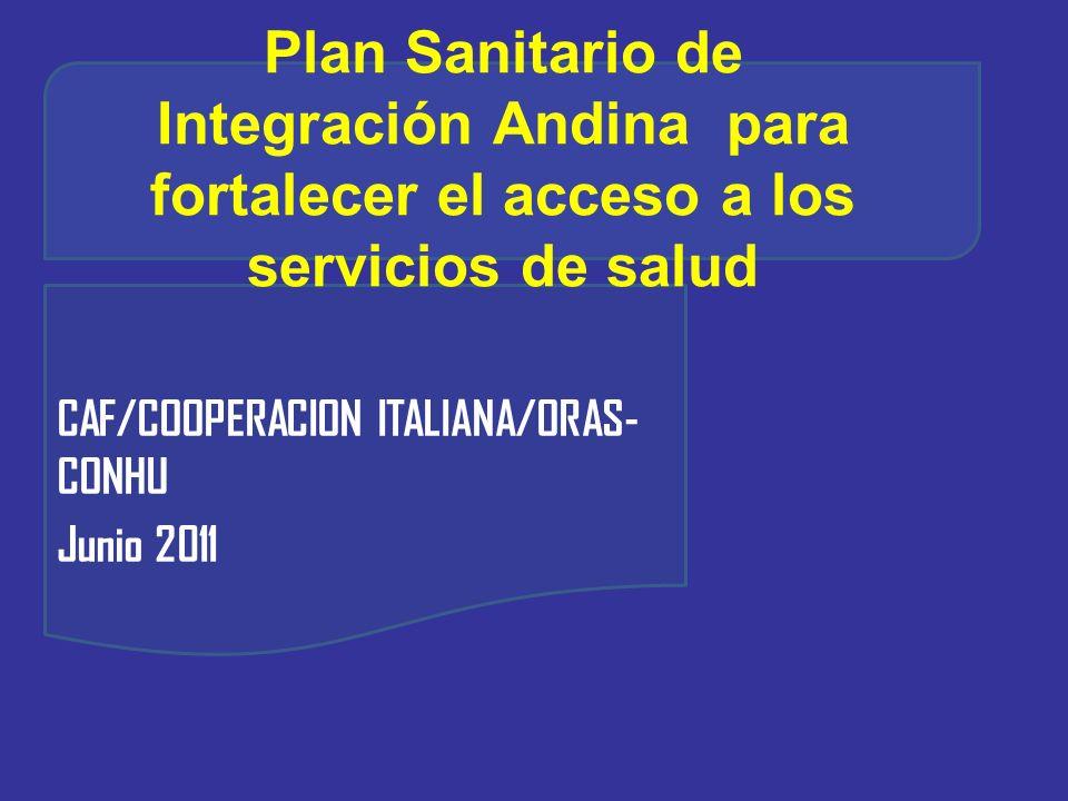 CAF/COOPERACION ITALIANA/ORAS-CONHU Junio 2011