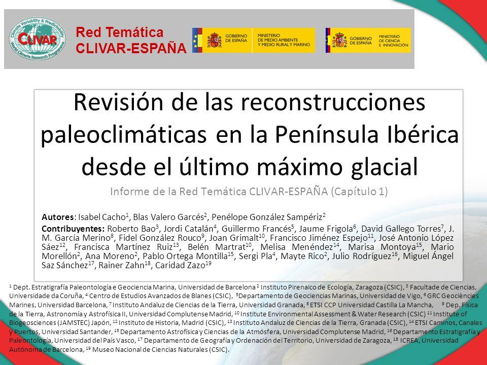 Informe de la Red Temática CLIVAR-ESPAÑA (Capítulo 1)
