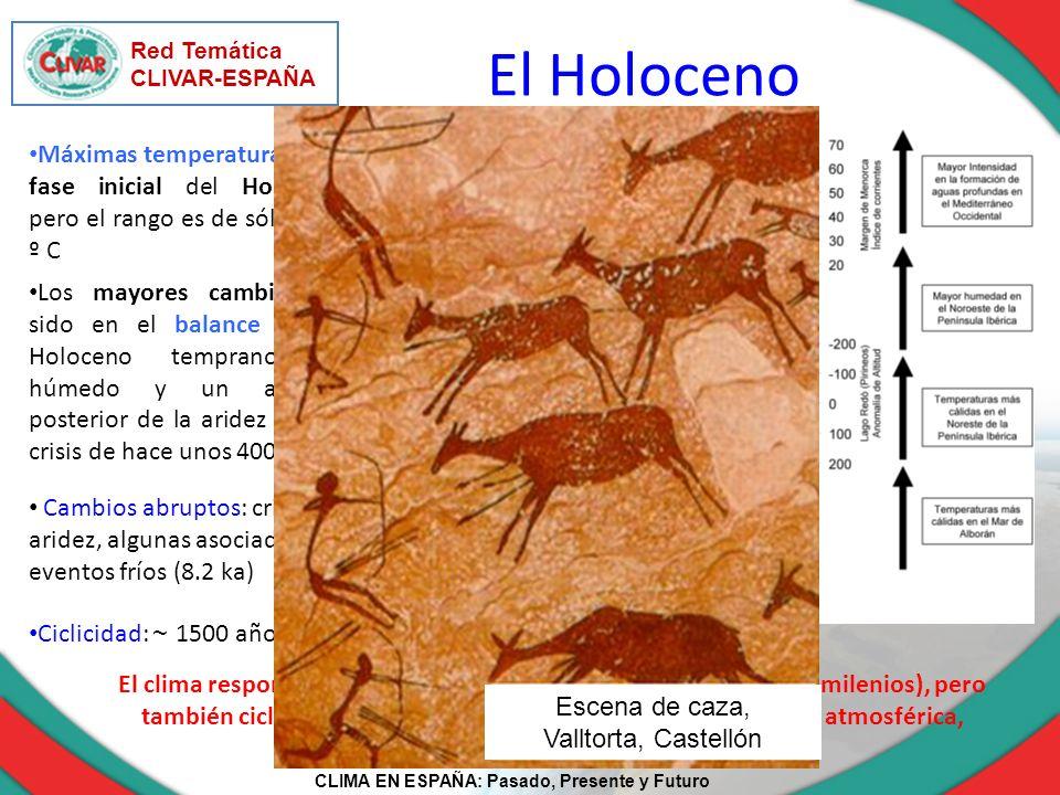 Red Temática CLIVAR-ESPAÑA. El Holoceno. Escena de caza, Valltorta, Castellón.
